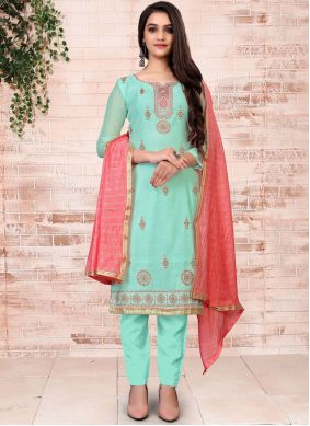 Turquoise Festival Pant Style Suit