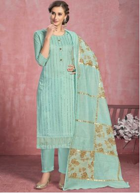 Turquoise Pant Style Suit