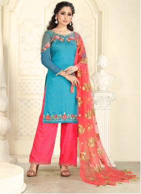 Turquoise Wedding Designer Pakistani Suit