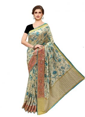 Tussar Silk Bridal Saree