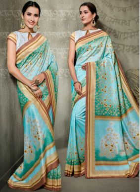 Tussar Silk Multi Colour Traditional Saree