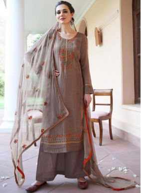 Vibrant Fancy Fabric Embroidered Designer Pakistani Suit