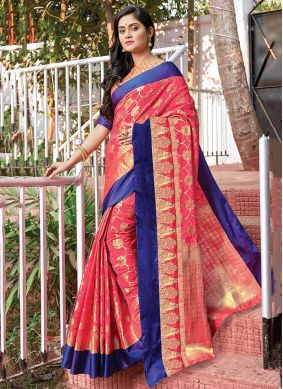 Vibrant Silk Party Designer Saree