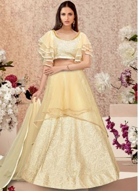 Vibrant Zari Party Trendy A Line Lehenga Choli