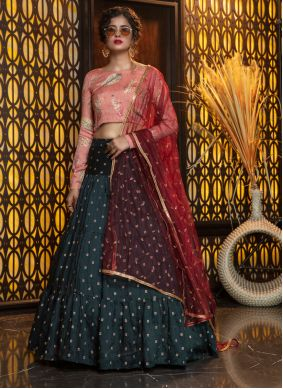 Violet Cotton Trendy Lehenga Choli