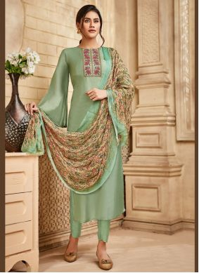 Viscose Sea Green Pakistani Salwar Kameez