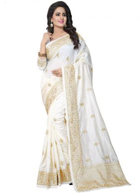 Vivid Art Silk Designer Traditional Saree