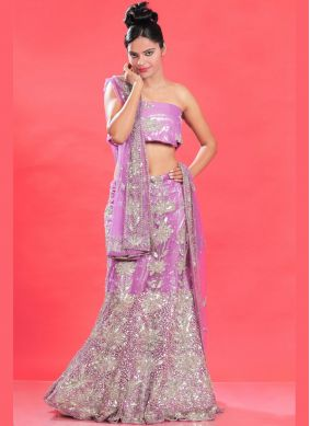 Voguish Net Embroidered Lehenga Choli