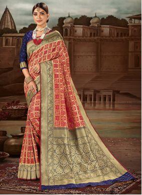Weaving Banarasi Silk Traditional Designer Saree