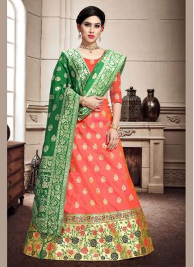 Weaving Banarasi Silk Trendy Lehenga Choli