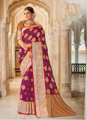 Purple Weaving Festival Designer Saree