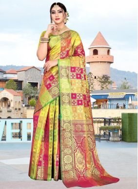 Weaving Multi Colour Art Silk Designer Saree