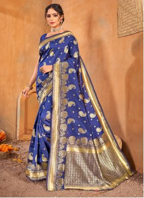 Blue Weaving Party Classic Saree