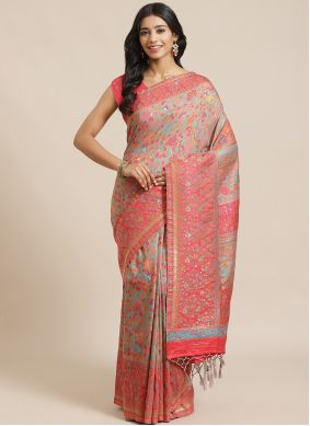 Weaving Multi Colour Traditional Designer Saree