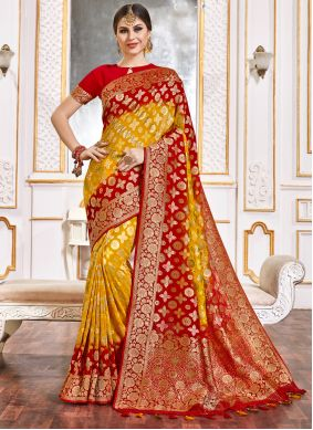 Weaving Wedding Classic Designer Saree
