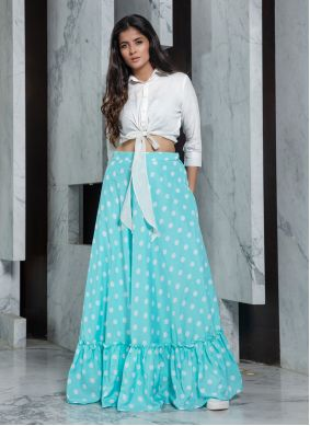 White Party Trendy Designer Lehenga Choli