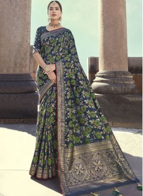 Wonderous Embroidered Wedding Designer Traditional Saree