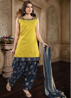 Yellow Fancy Ceremonial Readymade Suit