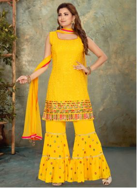 Yellow Festival Readymade Suit