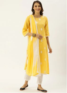 Yellow Party Pant Style Suit
