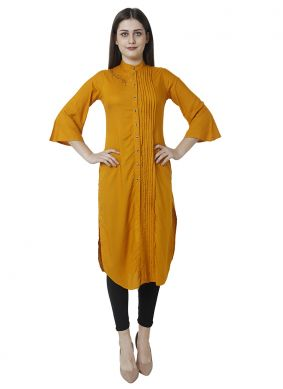 Yellow Party Salwar Kameez