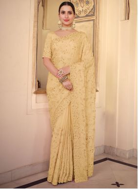 Yellow Wedding Traditional Saree