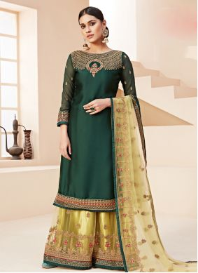 Green Zari Wedding Bollywood Salwar Kameez